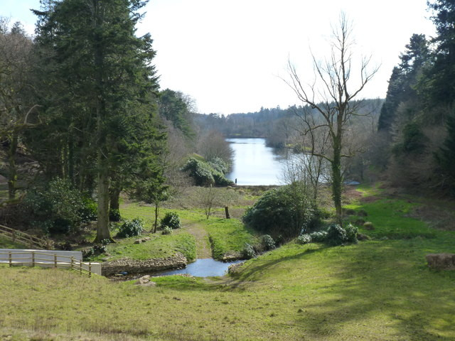 Looking down towards Tottiford Reservoir