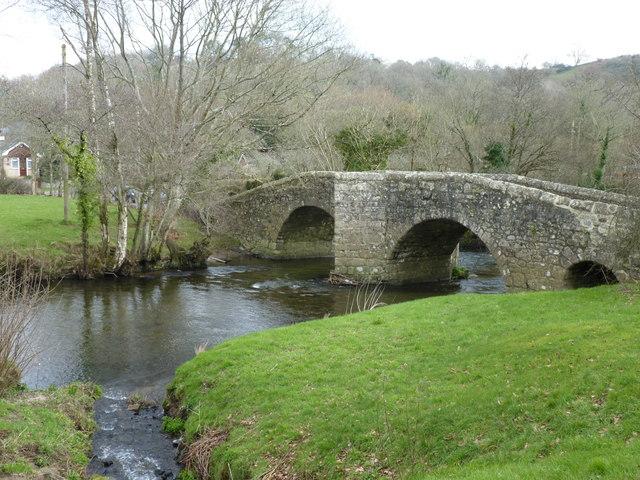 Spara Bridge over the River Teign, Ashton