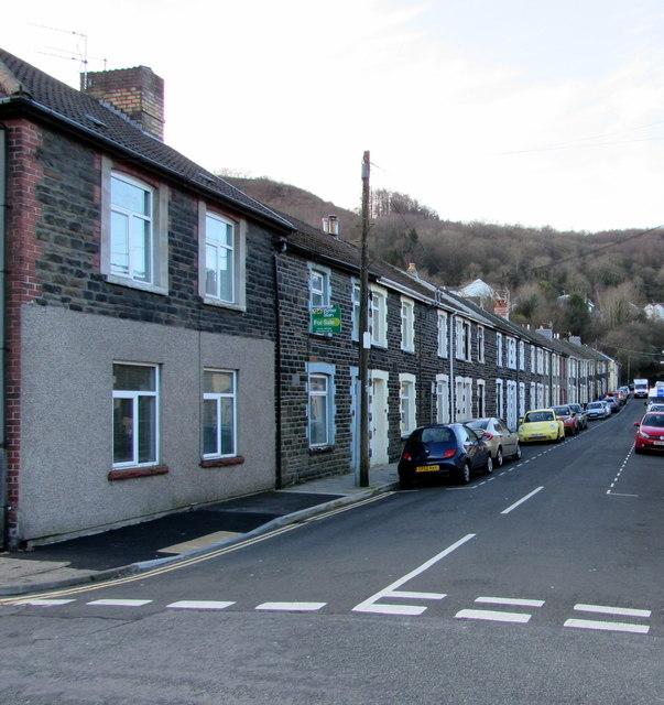 In Abercynon Rhondda Cynon Taf: Long Row Of Houses, Gertrude Street,... © Jaggery