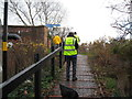 SP1391 : Litter sweep by Sustrans-Tyburn, Birmingham by Martin Richard Phelan