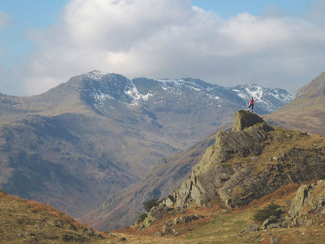 Outcrop above Chapel Stile, Great Langdale