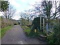 SJ5256 : Sandstone Trail signpost at Higher Burwardsley by Raymond Knapman