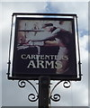 TL0330 : Sign for the Carpenters Arms, Harlington by JThomas