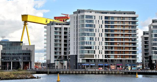 "The ""Arc"" apartments, Titanic Quarter, Belfast (March 2016)"