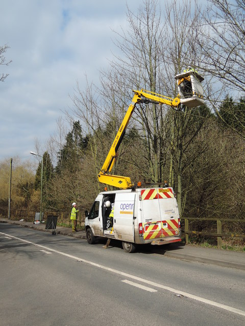 Cullompton: BT openreach at work