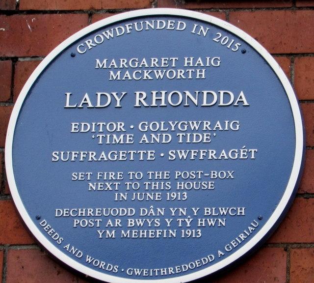 lady rhondda june 1913 blue plaque      u00a9 jaggery