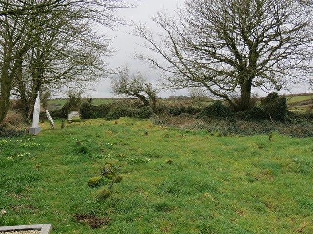 Abandoned church and churchyard near Kilpatrick