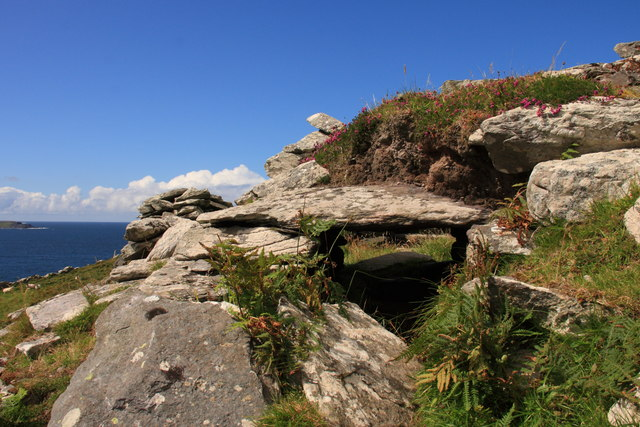 Wedge tomb on Killelan Mountain