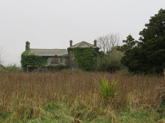 Derelict, seemingly abandoned house