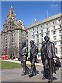 SJ3390 : Beatles Statue, Liverpool Waterfront : Week 14
