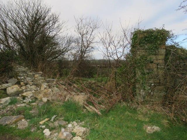 Ancient railway gate