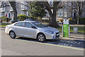 O2618 : E-Car charge point and car, Bray by Rossographer