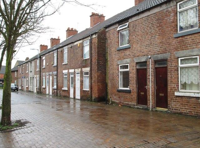 Stanton Hill - terraced housing on Co-operative Street
