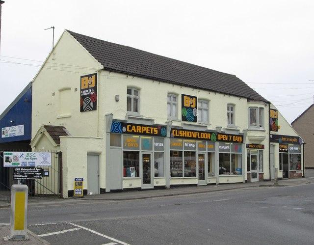 Sutton-in-Ashfield - carpet shop on Kirkby Road