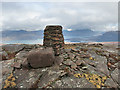 NG7652 : Trig point and rocks on Croic Bheinn by wrobison