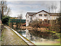 SD7807 : Bury and Bolton Canal, Ascot House and Victoria Street Footbridge by David Dixon