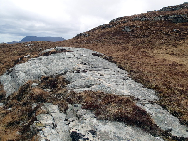 Glaciated slab above Loch na Maoile