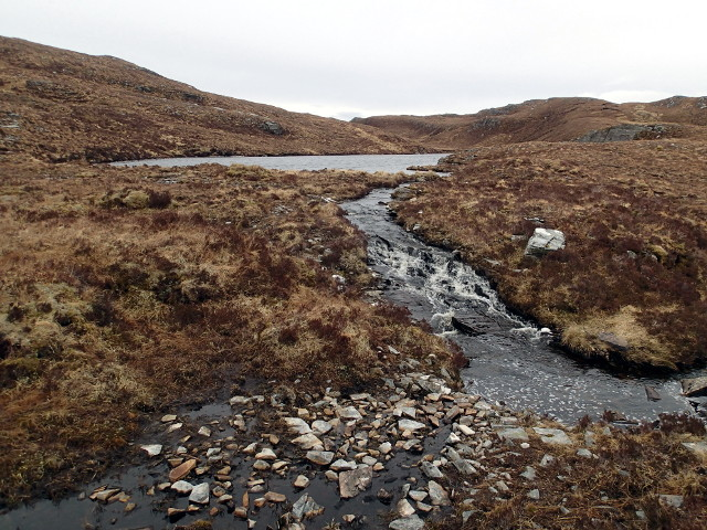 Outflow of the lower Lochanan an Uillt Mhoir
