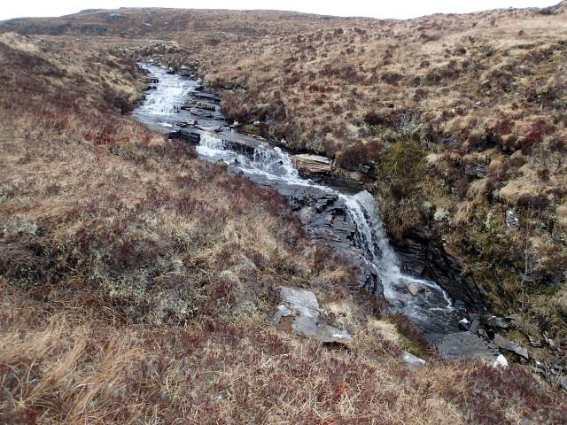 Waterfall below the lower Lochanan an Uillt Mhoir