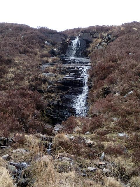 Waterfall above Loch Achall