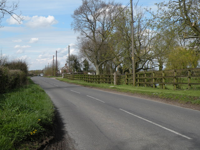 The B1066 at Gulling Green