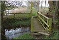 TL0899 : Small footbridge along the Nene Way by Mat Fascione