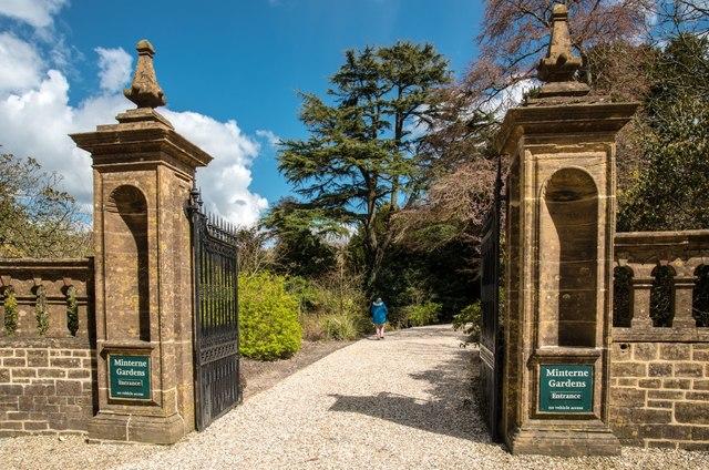 Minterne Magna:  Minterne Gardens Entrance
