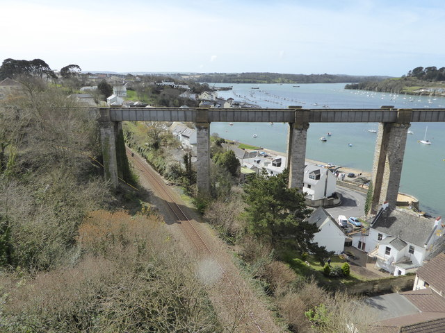 The line to Gunnislake passes under the approach to the Tamar Bridge