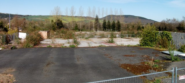 Presteigne demolished factory site
