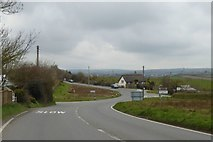 SS2101 : The staggered junction on A39 at Box's Shop by David Smith