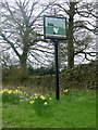 SJ9469 : Higher Sutton village sign by Graham Hogg