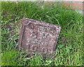 SJ5975 : Old Water Board Marker on Chapel Lane, Acton Bridge by Gary Rogers