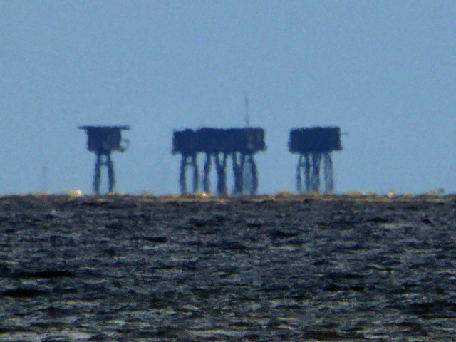 Red Sands forts from Whitstable
