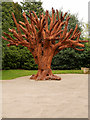 SE2812 : Yorkshire Sculpture Park, The Iron Tree (2010) by David Dixon