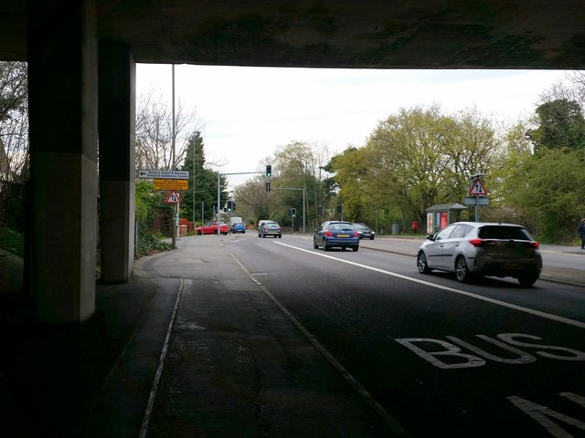 Frimley Road, under the M3 Bridge, Camberley