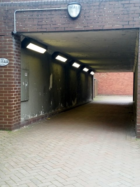 Passage under the railway line, Park Avenue, Camberley