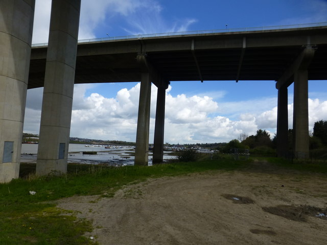 beneath the medway motorway and railway ron lee cc by. Black Bedroom Furniture Sets. Home Design Ideas