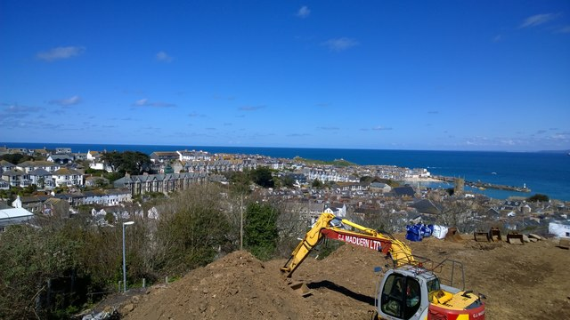 Construction above St Ives