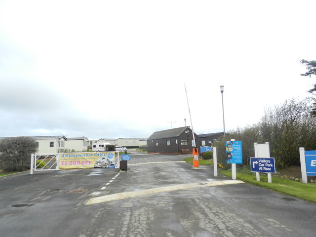 Entrance to Eyemouth Holiday Park