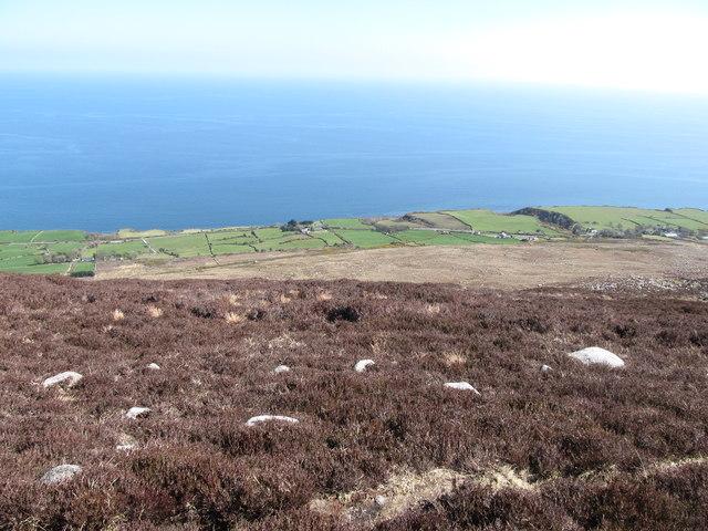 The narrow coastal plain south of Bloody Bridge