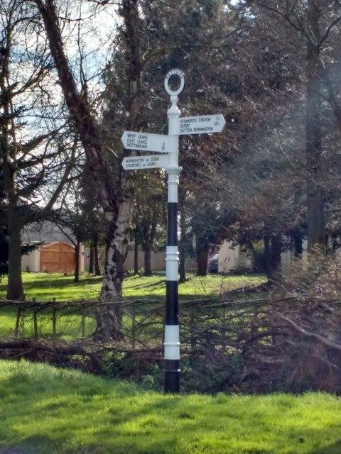 Replacement fingers on original post Melton Lane Sutton Bonington