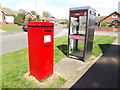 TM1350 : 2 Phillipps Road Postbox & Telephone Box by Adrian Cable