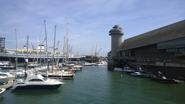 Boats and yachts at Falmouth Marina