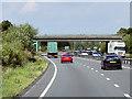 SK8061 : Northbound A1, Bridge near Cromwell by David Dixon