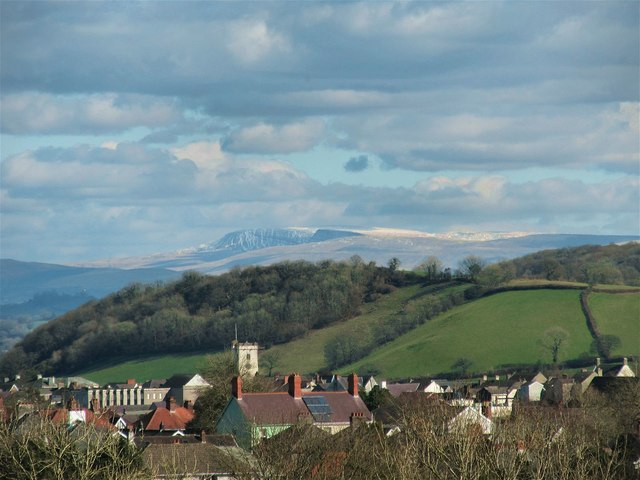 Bannau Sir Gar as seen from Carmarthen