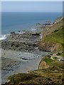 SS2117 : Rocky beach at Welcombe Mouth, Devon by Roger  Kidd