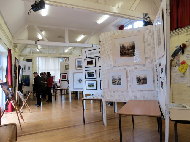 An Art Exhibition inside Aldbury Village School
