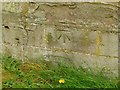 SO6170 : Bench mark, Boraston Church by Alan Murray-Rust