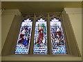 SJ8745 : Stoke Minster: stained glass window (IX) by Basher Eyre