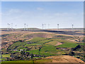 SD9617 : Wind Farm View from the Pennine Way by David Dixon